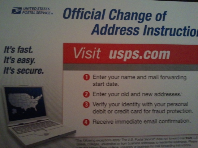 change my address usps online image search results