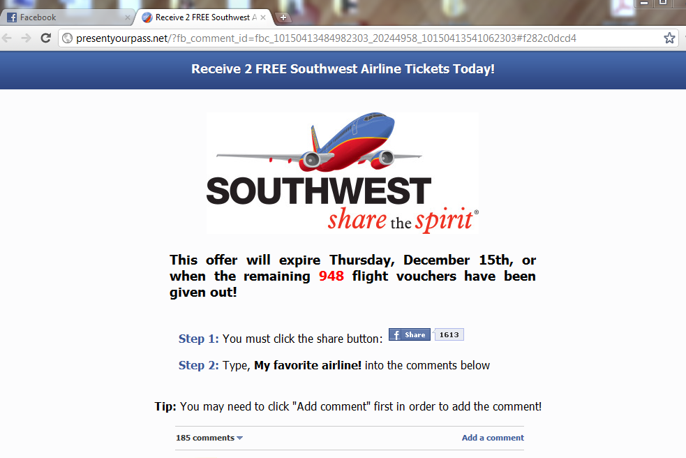 Southwest_Facebook_Scam