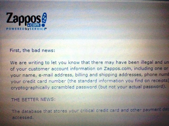 Zappos Customers On Alert After Cyber Attack The Lesson For All Of