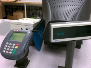 Credit card cash register