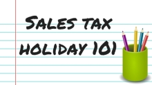 Sales tax holiday 101