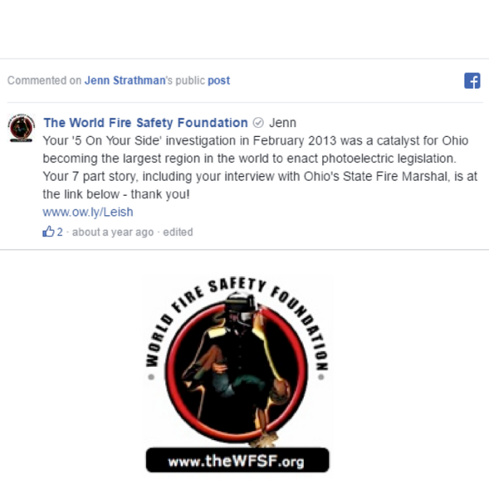 world fire safety foundation jenn strathman testimonial